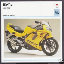 1993 Honda NSR 125cc R NSR125R Japan Bike Motorcycle Photo Spec Info Stat Card