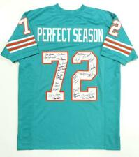 1972 17-0 Perfect Season Autographed Teal Pro Style Jersey- JSA W Authentication