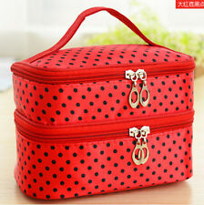 Women Folding Multi-Color Chic Design Handbag Cosmetic Bag Makeup Cases