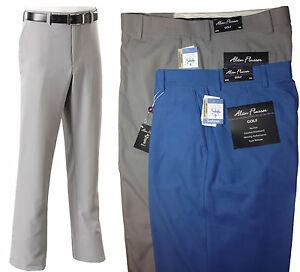 Alan Flusser Sorbtek Flat Front Elegant Comfortable Designer Golf Pants $65 NEW