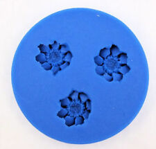 Flower 3 Cavity Mini Silicone Mold for Fondant, Gum Paste, Chocolate, Crafts 1B