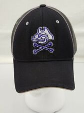 Zephyr Pirate Fitted Hat Size 7 3/8 Black, Gray, and Purple