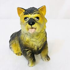 """Vintage New-Ray Soft Rubber Cairn Terrier Dog Toy Figure 2 1/4"""" Tall"""