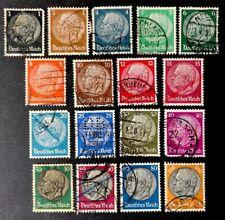 Germany Stamps Hindenburg Set Sc 391/431 Used