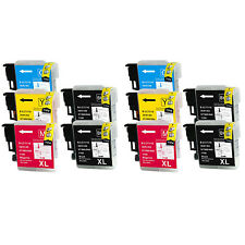 10PK NON-OEM for Brother LC61 MFC-490CW MFC-495CW MFC-295CN MFC-5490CN MFC-J415