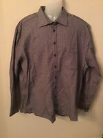 NWOT Authentic Haupt mens black geometric dress shirt germany button down