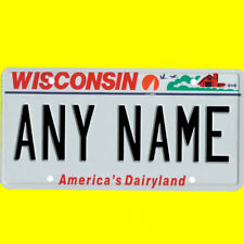 1/43-1/5 scale custom license plate set any brand RC/model car - Wisconsin tags