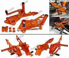 Orange Commandes reculées Repose-pieds Rearsets Pour 11-17 KTM Duke 125 200 390