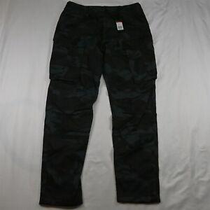 NEW G-Star Raw 34 x 34 Blue Black Camo Rovic Straight Tapered Cargo Pants