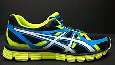 Asics Men's Size 7 T2H4N 9001 Gel-Extreme 33 Running Shoes, Black White Green