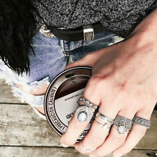 7Pcs/set Women Retro Vintage Rings Set Lone Wolf Oval Band Ring Jewelry Gifts