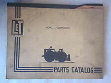 vintage LeTourneau Model C Tournadozer Parts Catalog form Pc-316
