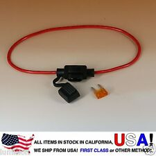 NEW MINI BLADE Style APM ATM Inline 16AWG Fuse Holder (Water Proof) + 5AMP FUSE