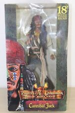 "Pirates of the Caribbean Dead Man's Chest Cannibal Jack Sparrow 18"" NECA Sound"