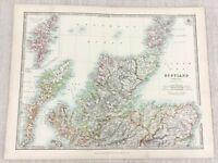 1896 Antik Map Of Schottland Caithness Schottische Highlands 19th Jahrhundert