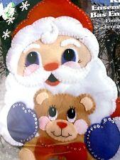 "Santa & Bear 16"":Christmas Stocking Kit, Applique Felt Sequins 5072"