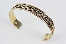 bracelet en cuivre doré cuivré  bijoux indien ethnique braccialetto di rame