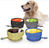 Outdoor Portable Travel Collapsible Foldable Pet Dog Bowl Food Water Bowl Dishes