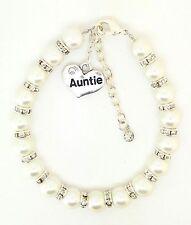 Personalised Family Friend  Sister Mum Charm Bracelet Extender Chain Christmas