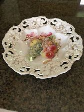 Rudolf Wachter RTW Bavaria Reticulated Hand Painted, Fruit Bowl /Plate13""