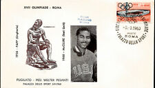 1960 Olympics Italy USA Gold Medal Wilbert McClure Boxing Light Middleweight FDC