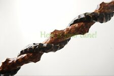 PERFECT WALKING STICK CANE HANDMADE CARVED WOODEN WOOD STAFF EAGLE & SNAKE BEST!