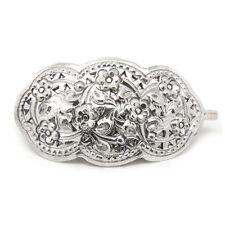 Medium Victorian Daisy Sterling Silver Hair Clip Pin