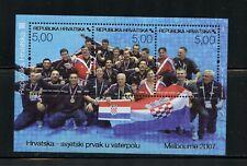 R110 Croatie 2007 Eau Polo Championnat Feuille MNH
