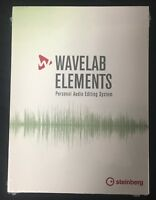 New Steinberg WaveLab Elements 9.5 Audio Editing Mac/PC Software Boxed