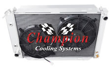 "3 Row Performance Champion Radiator W/ 2 12"" Fans for 1979 - 1993 Ford Mustang"
