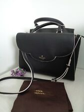 BNWT KATE SPADE Black Makayla Leewood Place Calf Leather Satchel Shoulder Bag