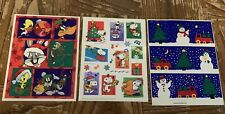 Vintage Looney Toons and Peanuts Holiday Stickers