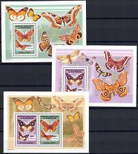 "2007 Congo ZAIRE ""Butterflies"" sheets OBP 467/9, cat.val = 60.00€, MNH"