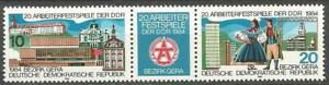 Germany (East) DDR GDR 1984 MNH Workers' Festival Gera Mi-2880/81 SG-E2591/92