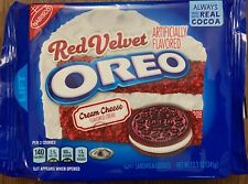 NEW NABISCO RED VELVET OREO COOKIES CREAM CHEESE FLAVORED CREME 12.2 OZ PACK