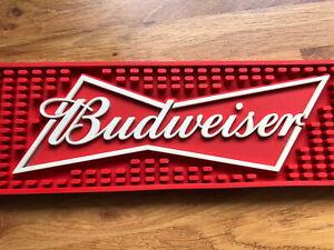 Budweiser Rubber Beer Runner. Man Cave. Honemade Bar. Man Cave Pop Up Bar