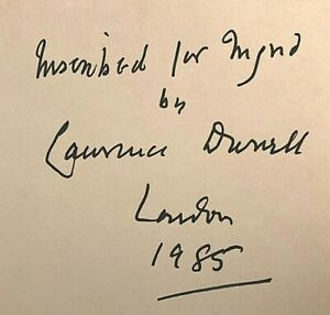SIGNED Lawrence Durrell - Quinx - 1st/1st 1985 Faber in Dustwrapper - Excellent