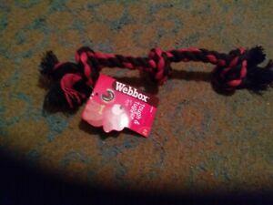 Tugger Dog Rope Black & Red