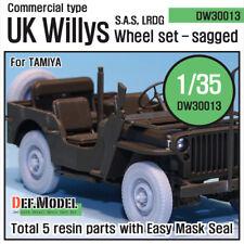 DEF. MODEL, WW2 UK Commando/SAS Jeep Wheel set, DW30013, 1:35