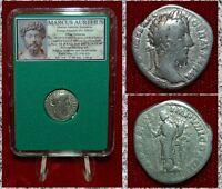 Roman Empire Coin MARCUS AURELIUS Felicitas On Reverse Silver Denarius