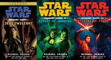 Star Wars CORUSCANT NIGHTS TRILOGY Series MASS MARKET Collection Set, Books 1-3!