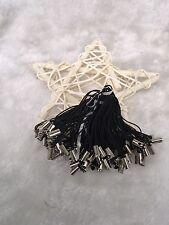 100pcs Black Charm Mobile Phone Dangle Strap String Thread Cord DIY