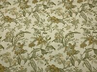 Richloom Floral Leaf Vine Yellow Gold Green Twill Upholstery Fabric By The Yard
