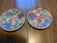 Pair Fruit Plates Unmarked