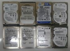 Lot of 8 Assorted 160GB 2.5 in SATA Laptop Hard Drives Wiped Formatted