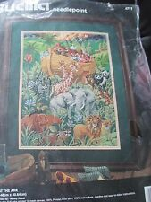 NANCY ROSSI Vintage GATHERING AT THE ARK Needlepoint KIT - 1990's