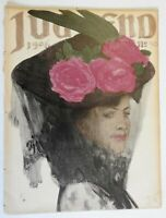 Woman in Veil Jugend Magazine 1906 Issue 50 Jugenstil Art Nouveau graphics