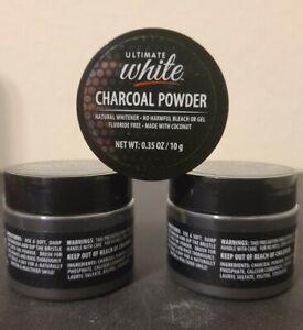 Ultimate White Charcoal Powder Natural Teeth Whitener, 0.35oz Jar