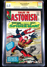 TALES TO ASTONISH #57 CGC 6.0 SS SIGNED BY STAN LEE, CENTERED SPIDER-MAN WASP OW