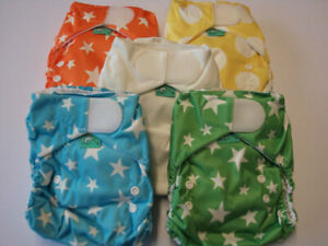 TotsBots, Easyfit Bamboo Reusable Nappy, Rainbow, 5 Pack